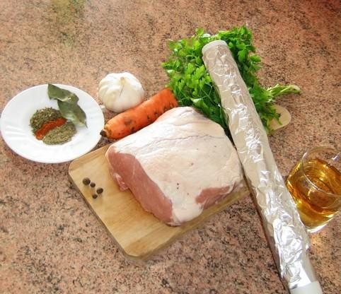 Свиная шейка запеченная в фольге